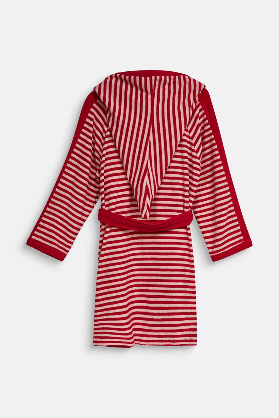 Children's bathrobe with pointed cap, RASPBERRY, detail image number 1