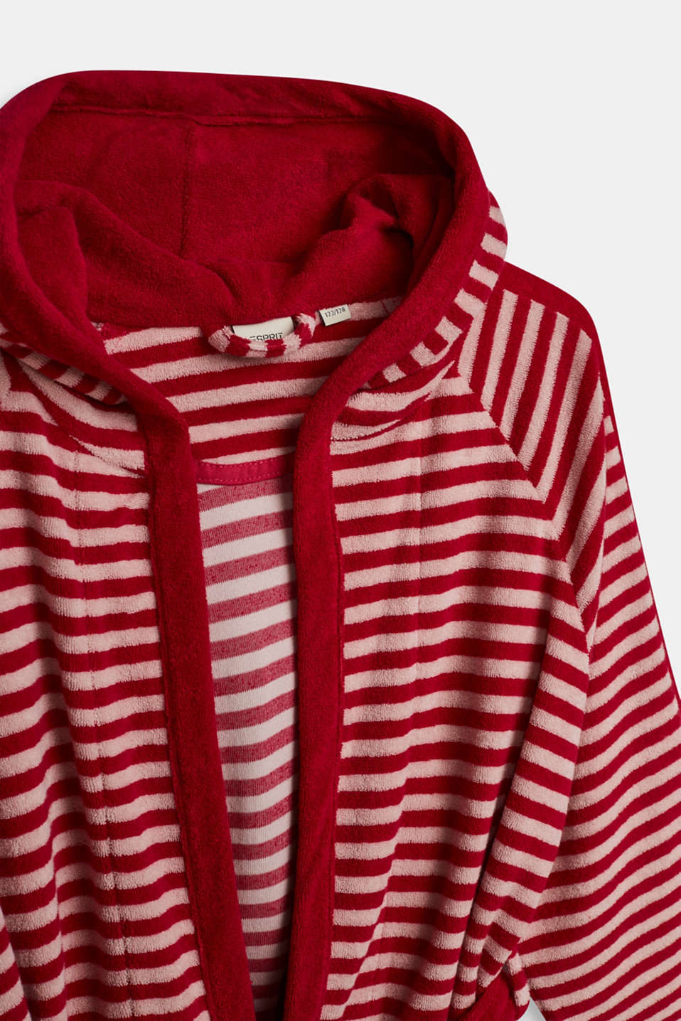 Children's bathrobe with pointed cap, RASPBERRY, detail image number 2