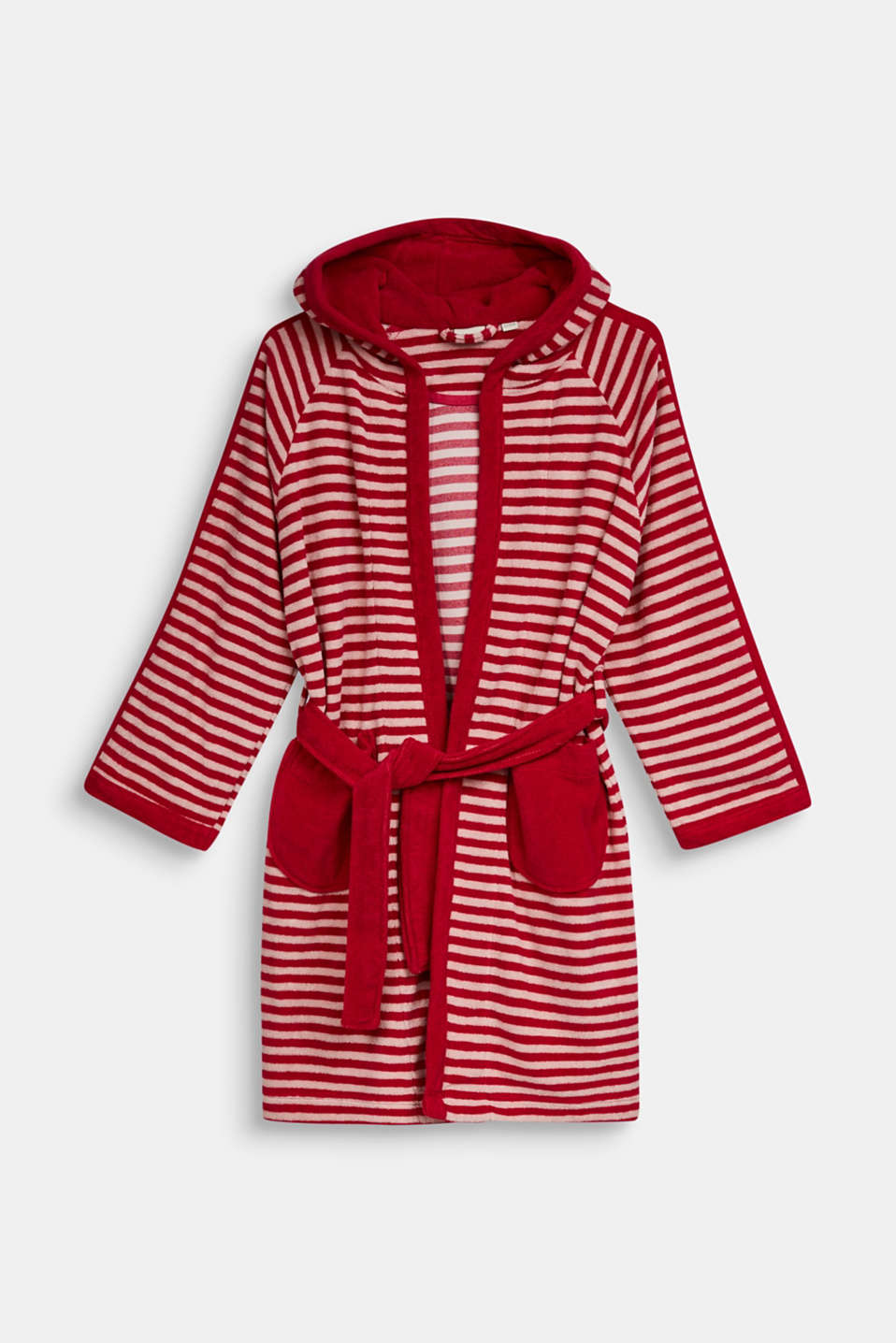 Children's bathrobe with pointed cap, RASPBERRY, detail image number 0