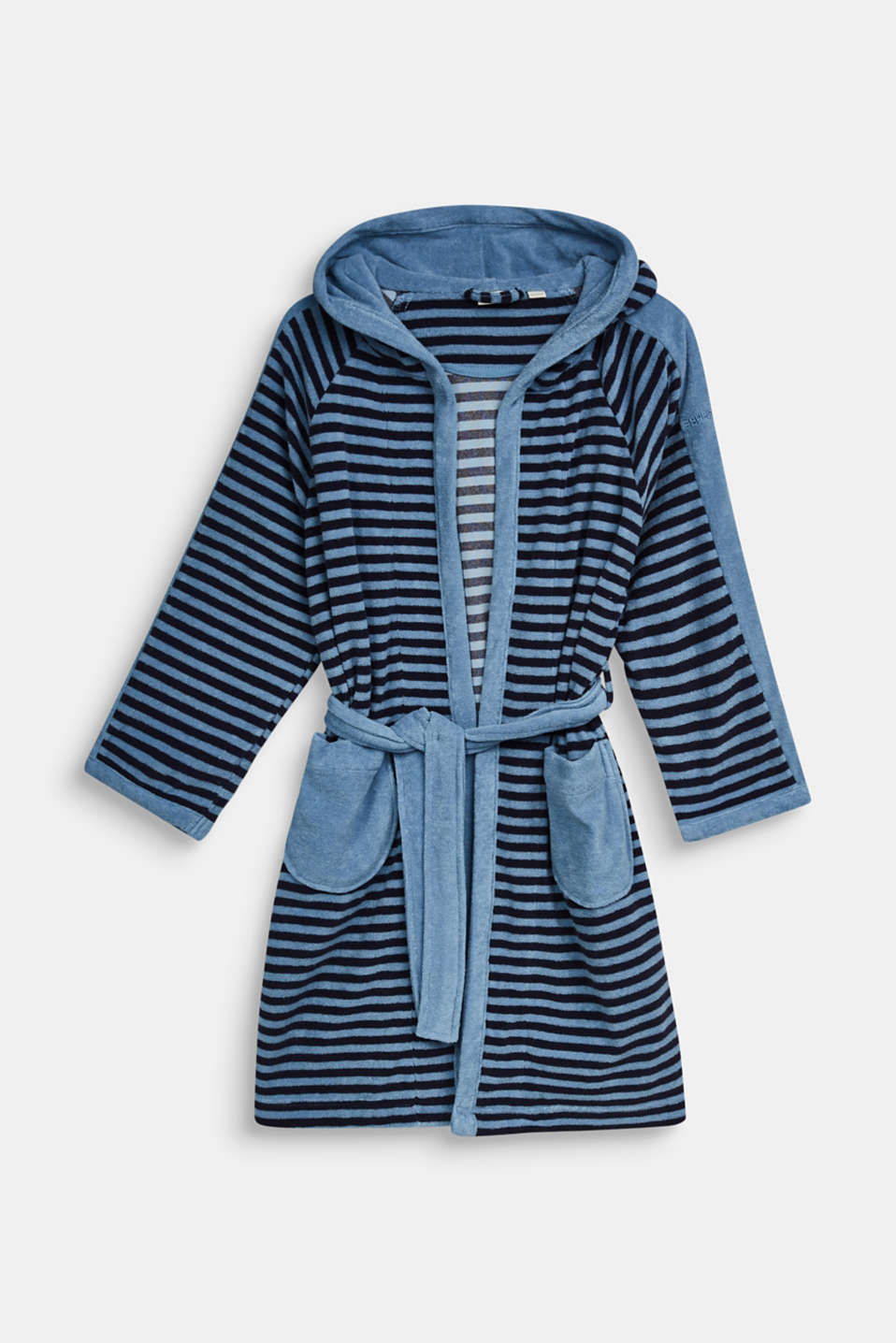 Children's bathrobe with pointed cap, SKY BLUE, detail image number 0