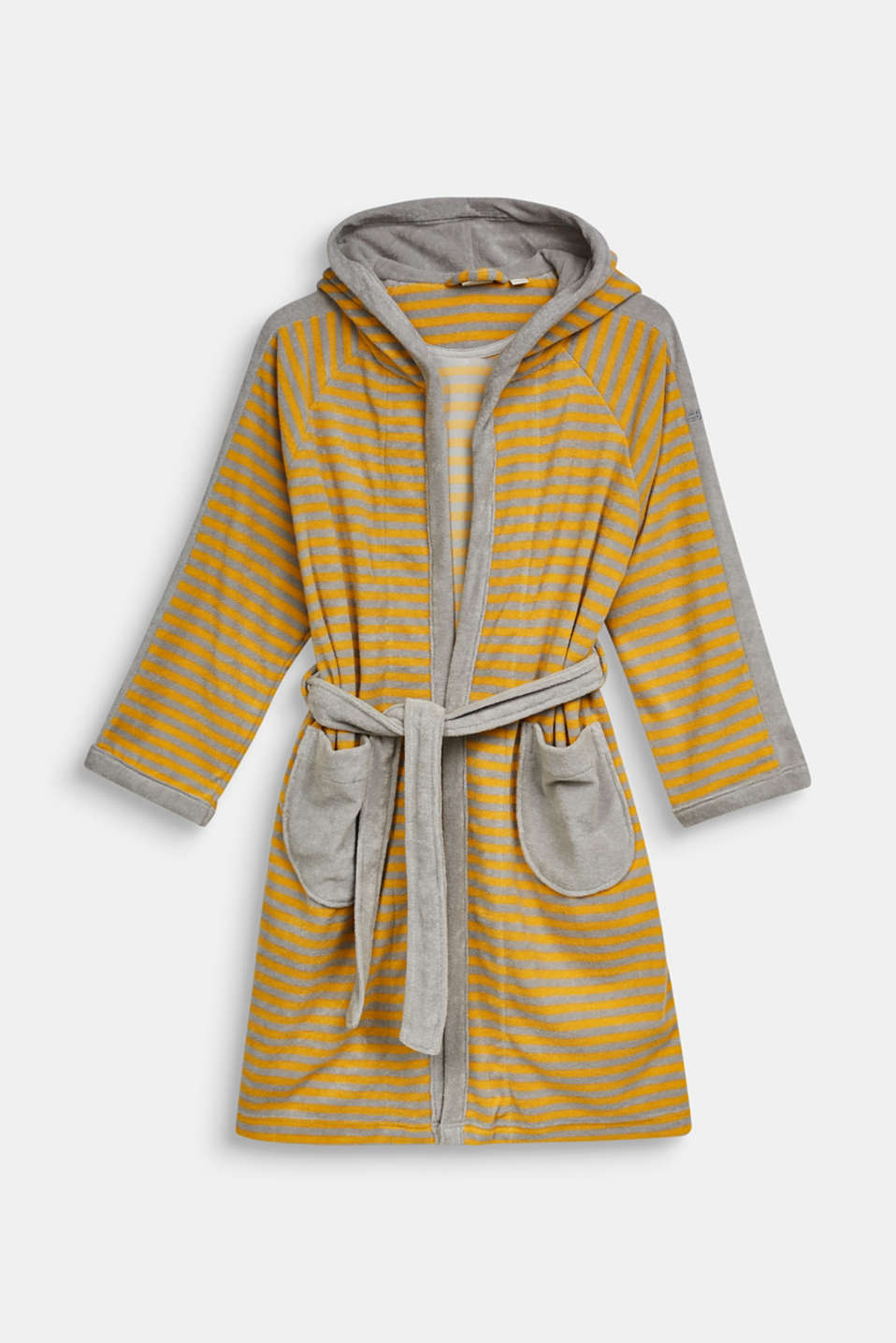 Children's bathrobe with pointed cap, STONE, detail image number 0