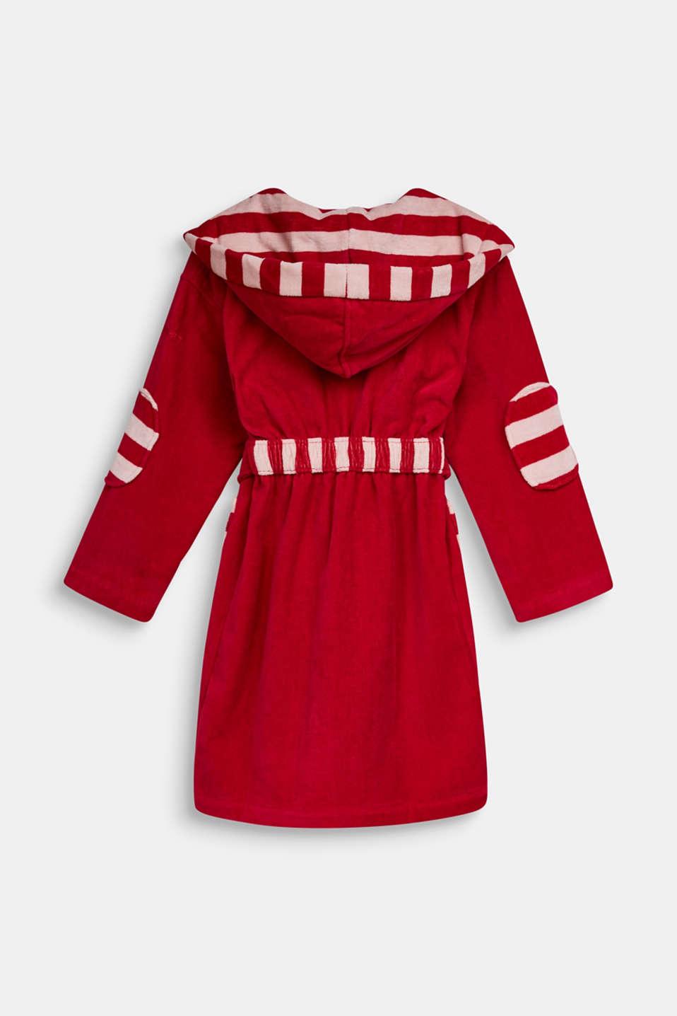 Children's bathrobe in 100% cotton, RASPBERRY, detail image number 1