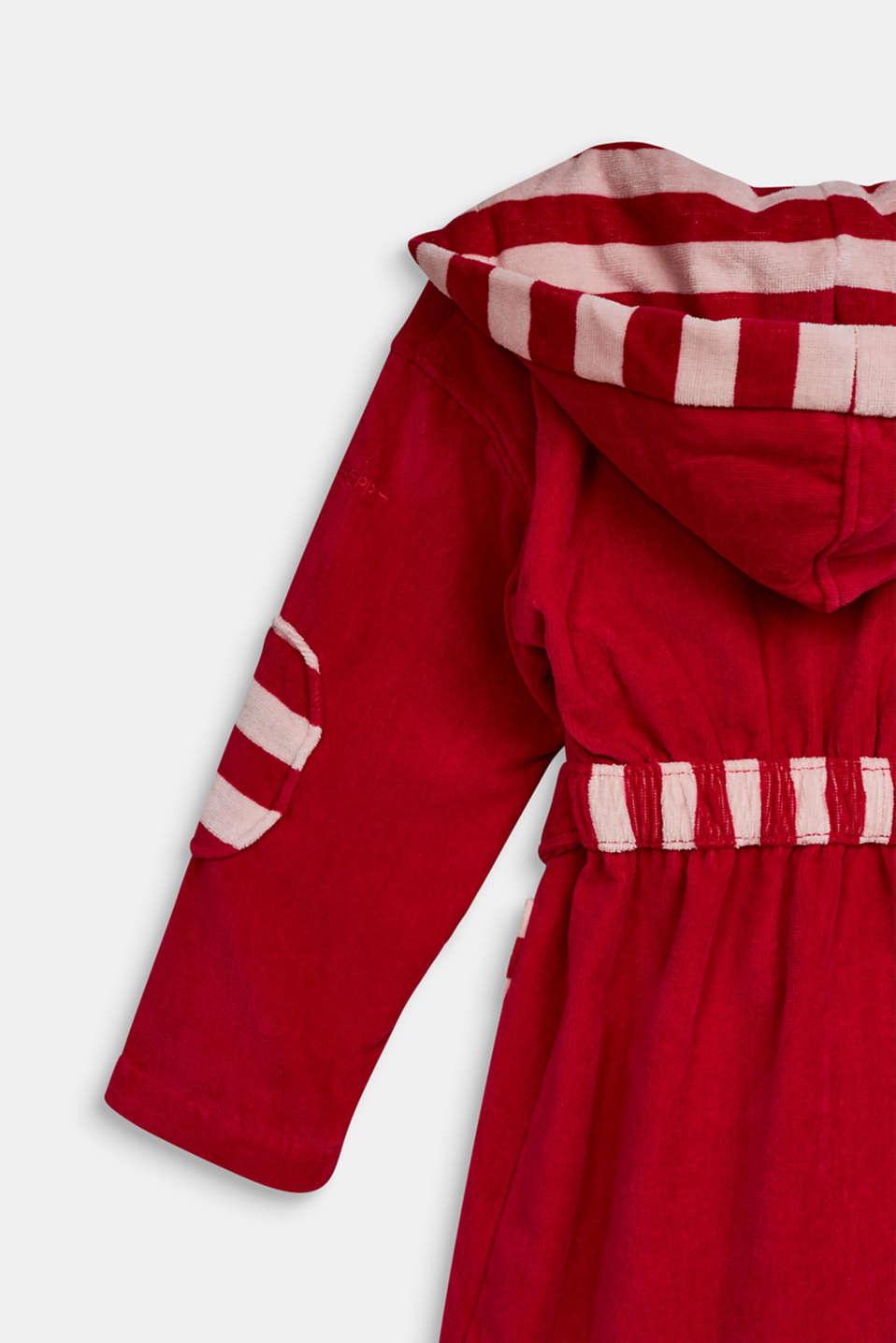Children's bathrobe in 100% cotton, RASPBERRY, detail image number 2
