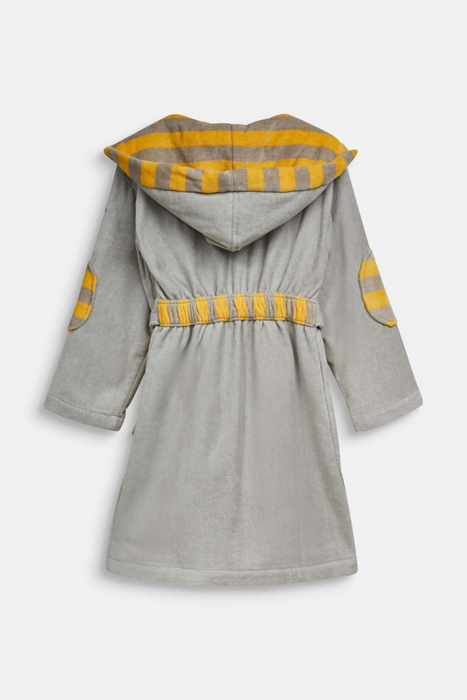Children's bathrobe in 100% cotton, STONE, detail image number 1