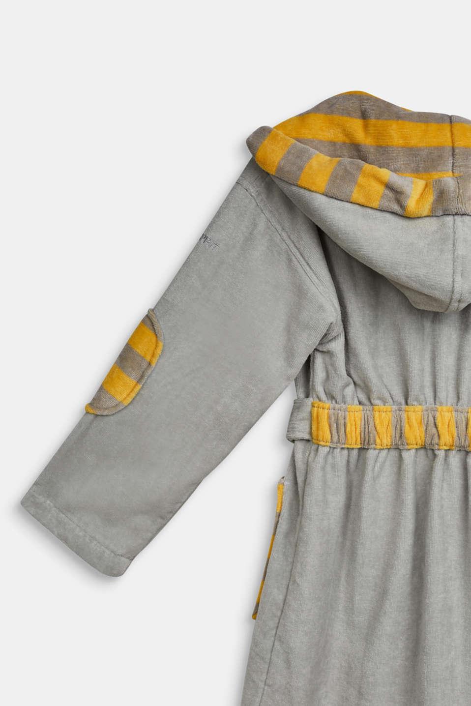 Children's bathrobe in 100% cotton, STONE, detail image number 2