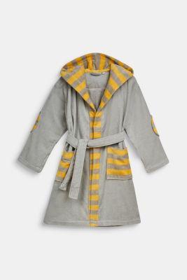 Children's bathrobe in 100% cotton, STONE, detail