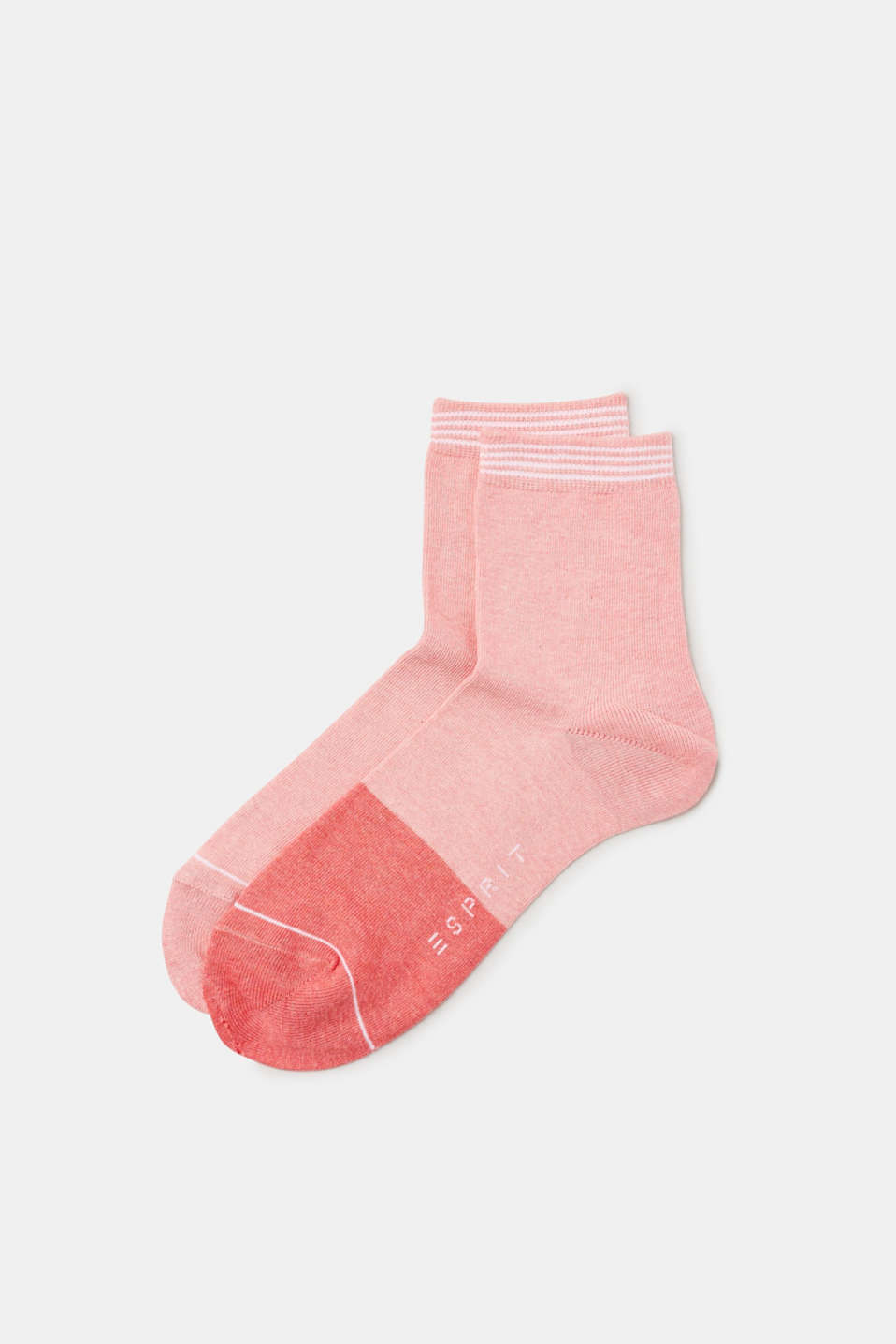 Esprit - Double pack of socks with a striped cuff