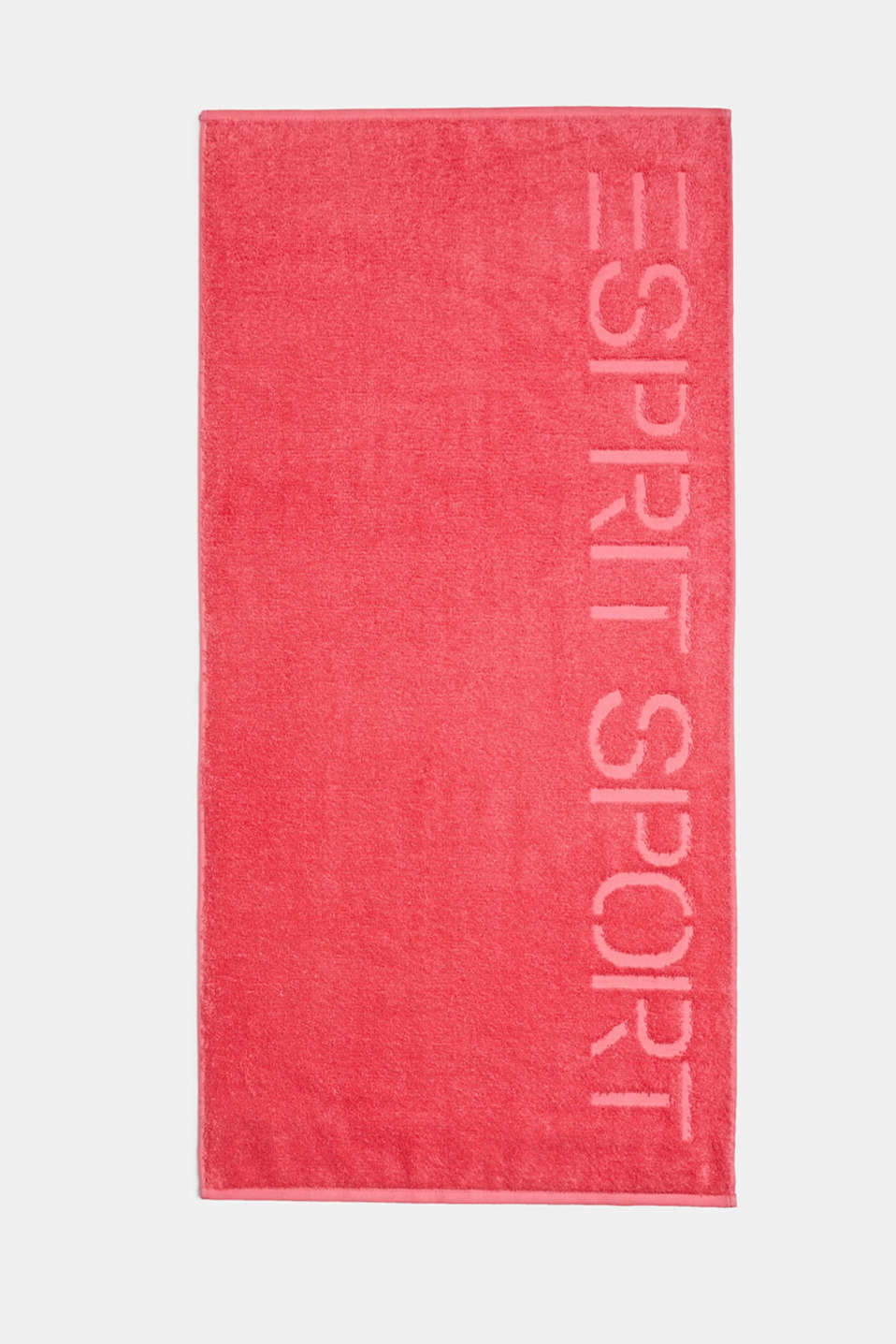Towel with a logo, 100% cotton, CORAL, detail image number 0