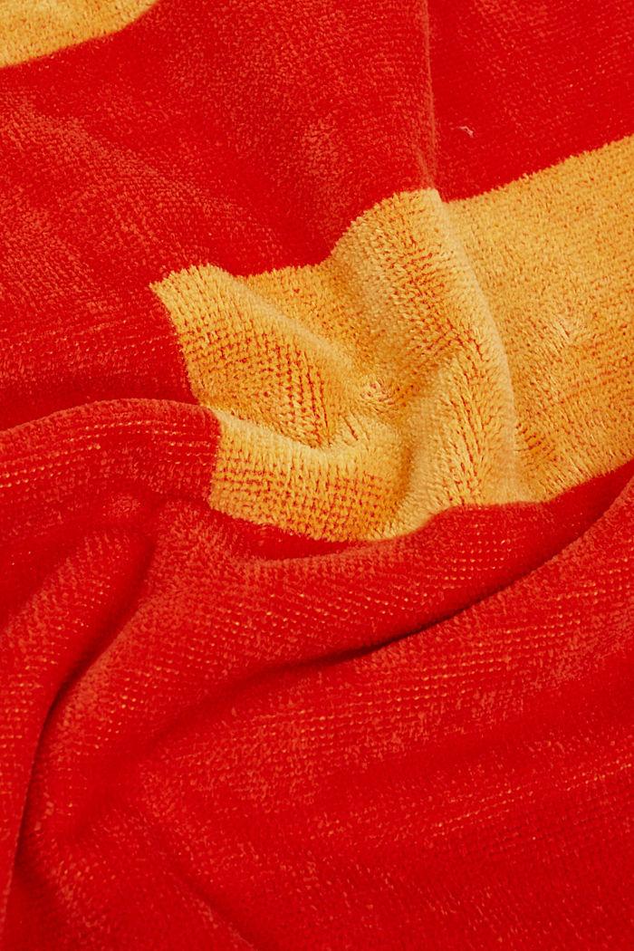 Badetuch mit Logo-Intarsien, 100% Baumwolle