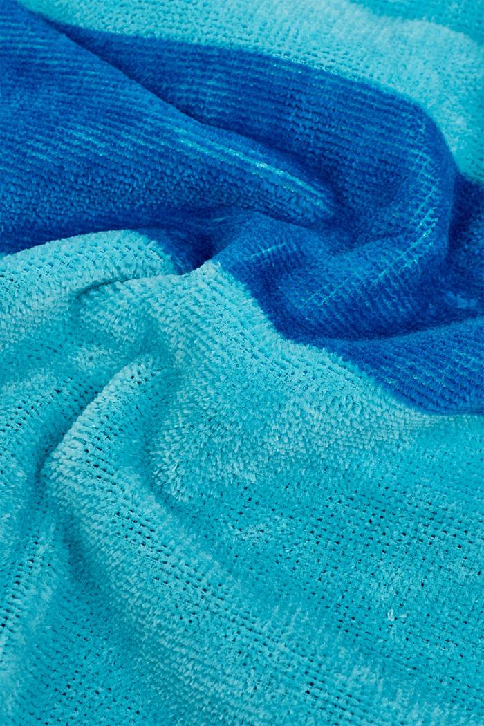 Badetuch mit Logo-Intarsien, 100% Baumwolle, OCEAN BLUE, detail image number 1