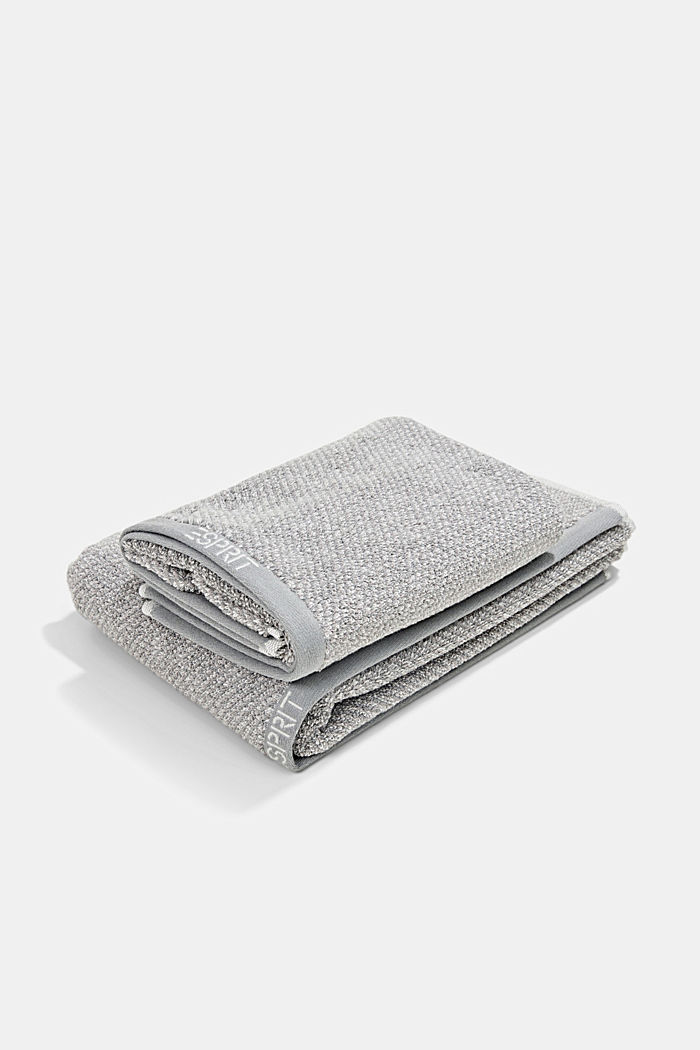 Handtuch-Serie aus 100% Baumwolle, STONE, detail image number 0