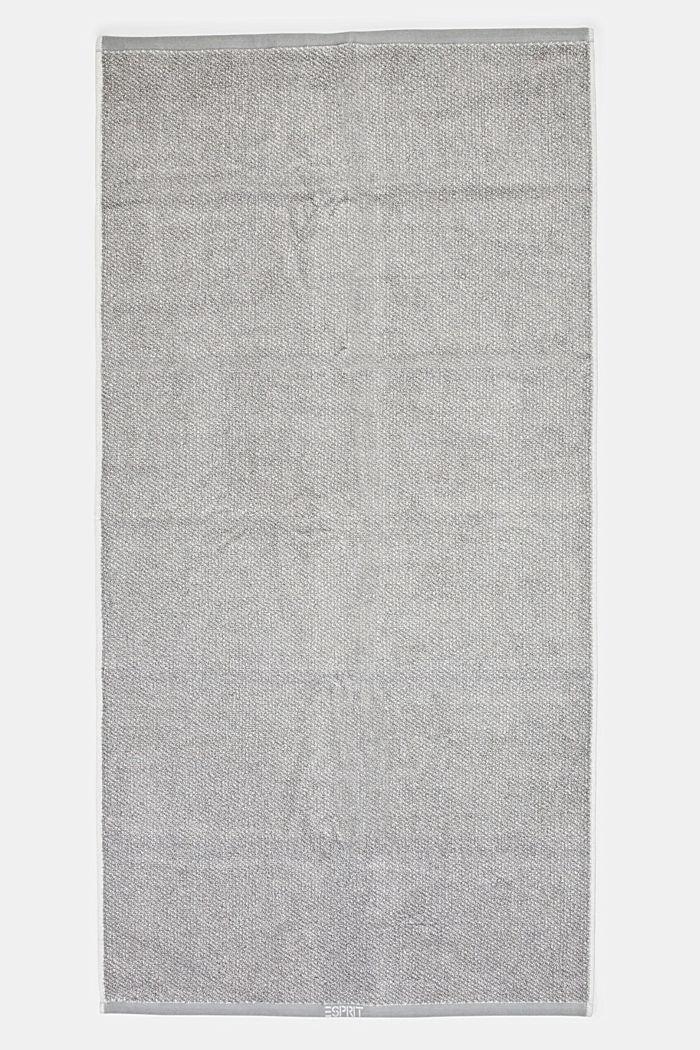 Handtuch-Serie aus 100% Baumwolle, STONE, detail image number 3