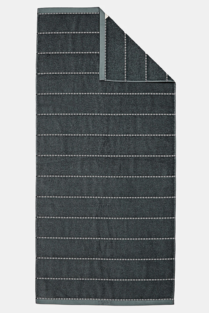 With TENCEL™: terry cloth towel collection, GREY STEEL, detail image number 2