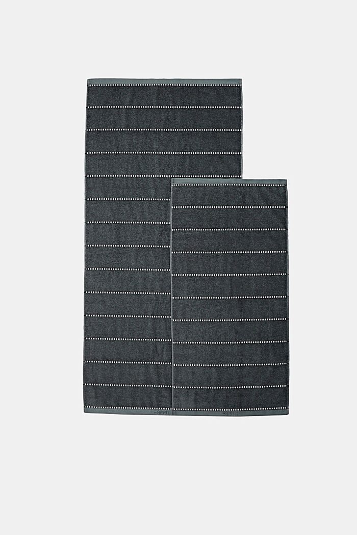 With TENCEL™: terry cloth towel collection, GREY STEEL, detail image number 3
