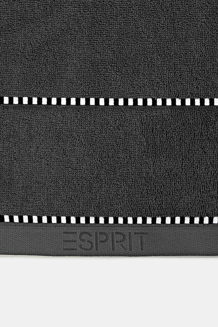 With TENCEL™: terry cloth towel collection, GREY STEEL, detail image number 1