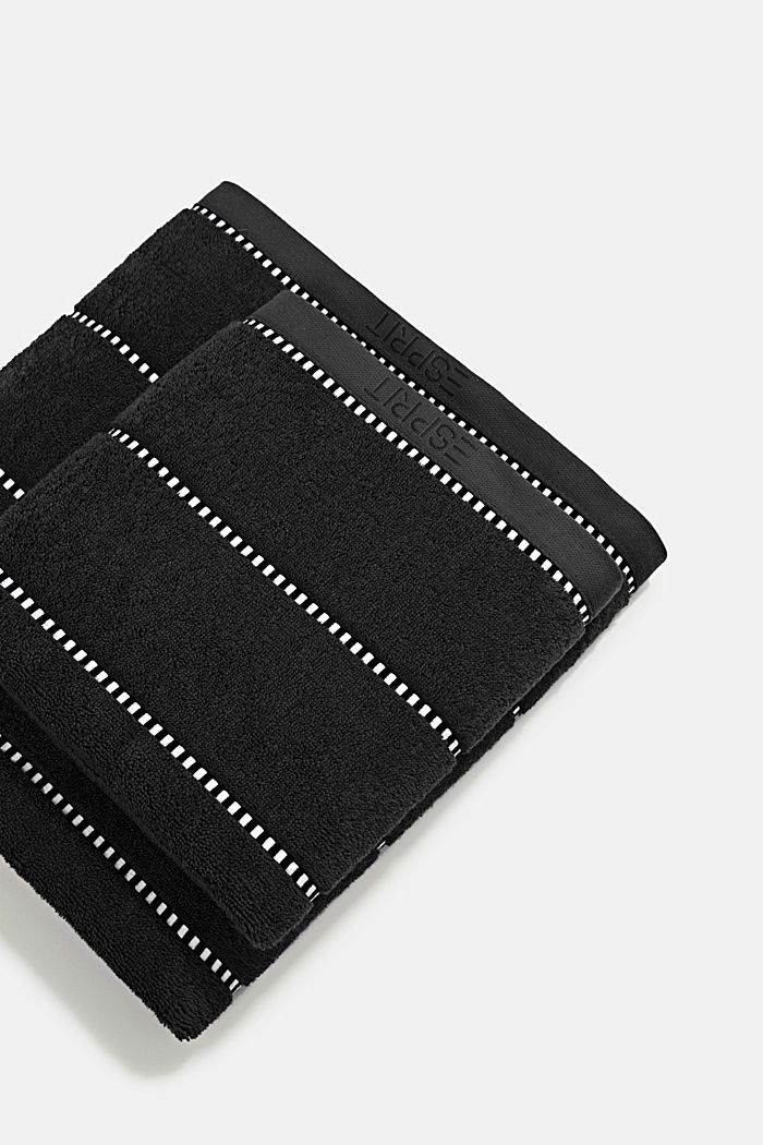 With TENCEL™: terry cloth towel collection, BLACK, overview