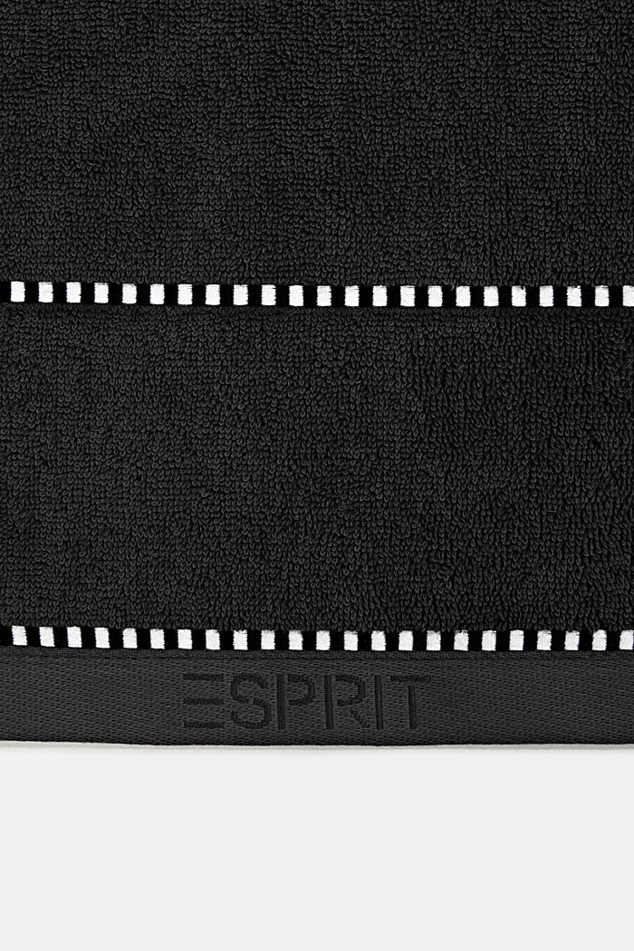 With TENCEL™: terry cloth towel collection, BLACK, detail image number 1