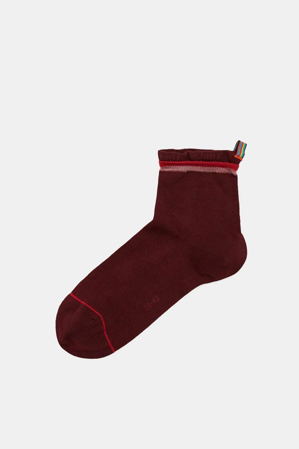 Esprit - Socks with logo intarsia, made of blended cotton