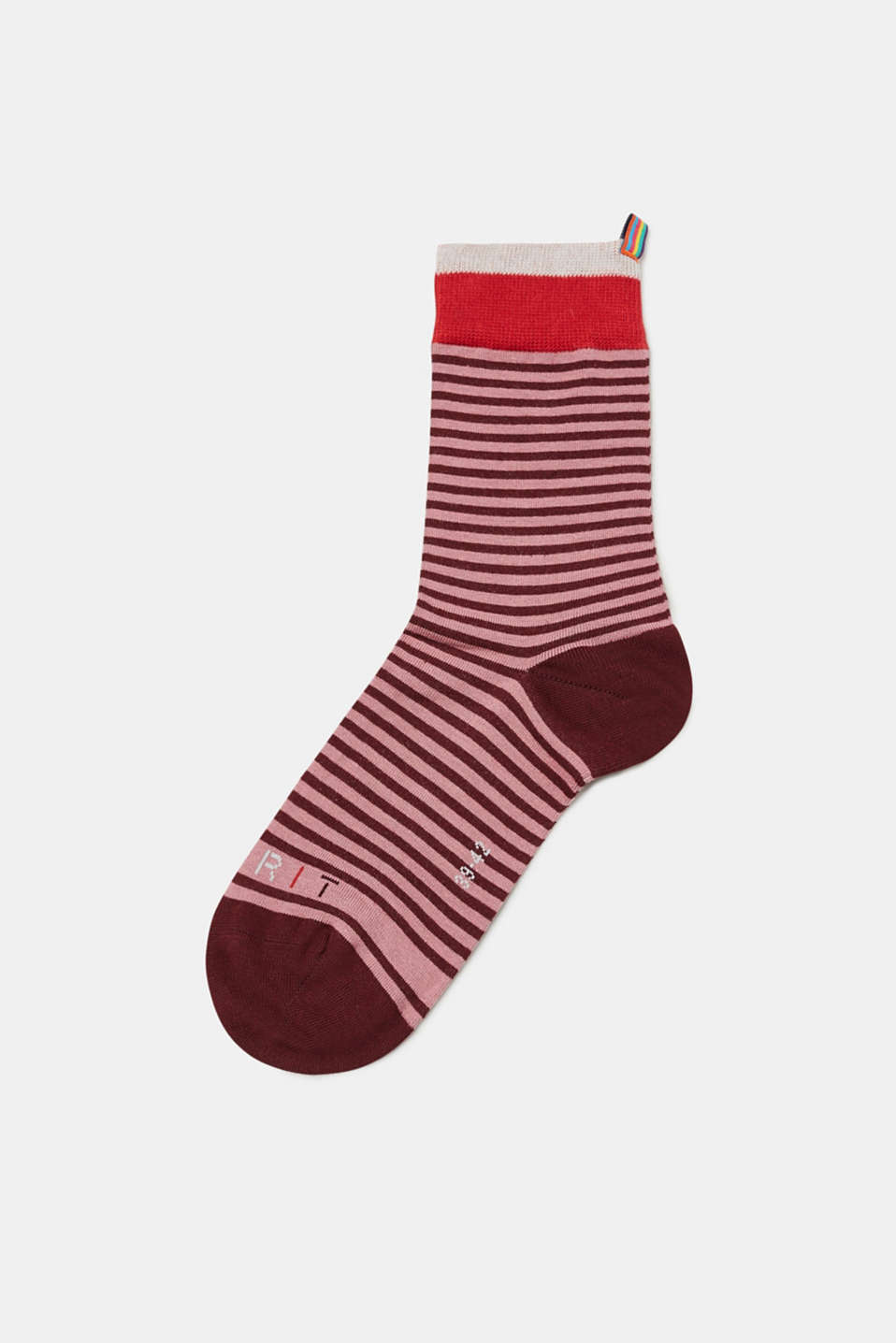 Esprit - Socks with stripes and contrasting cuffs