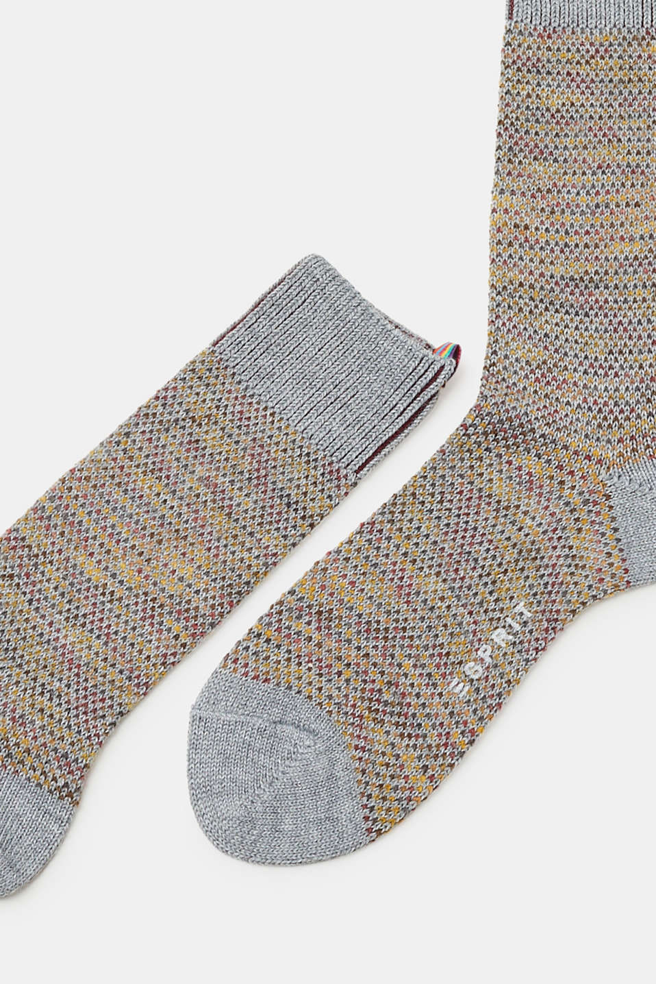 With wool: Knitted socks