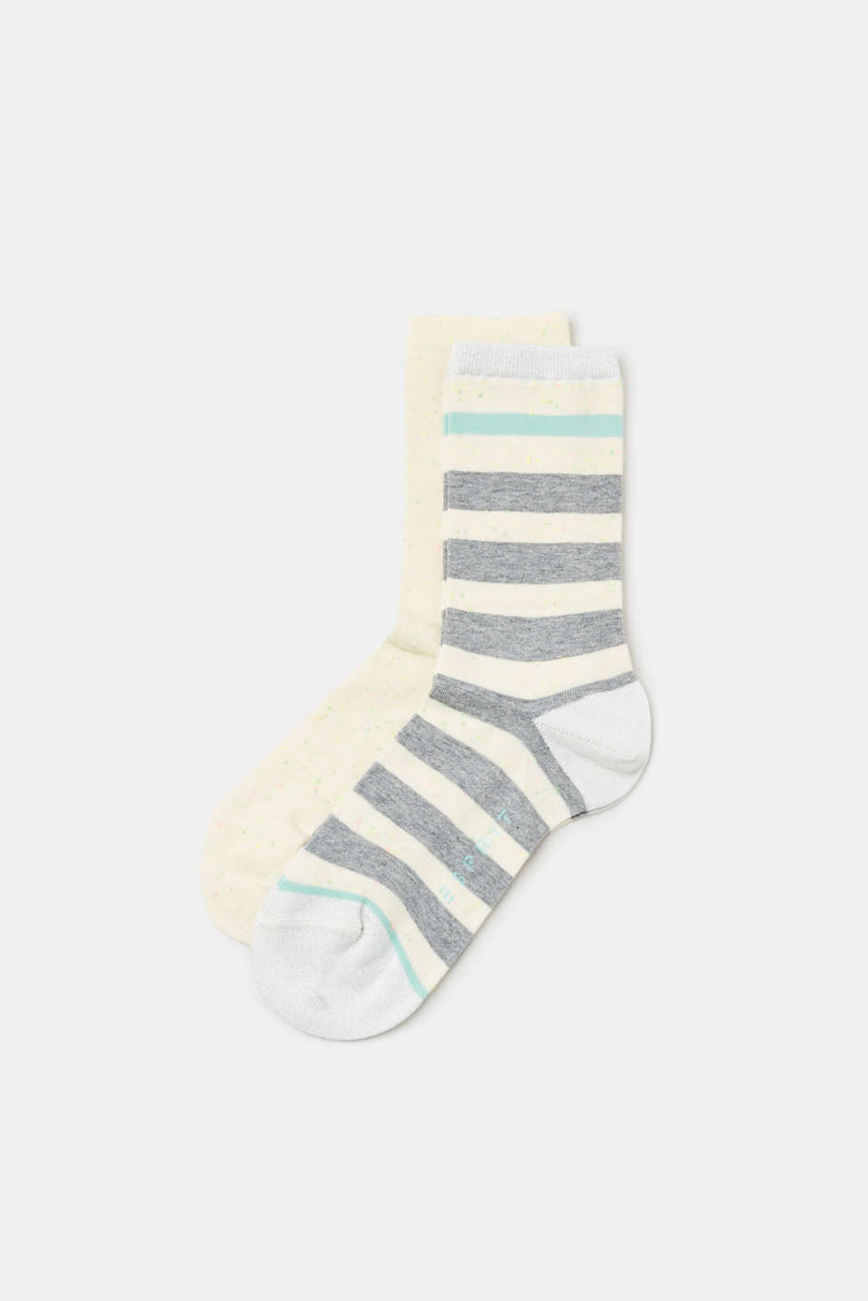 Esprit - Double pack of socks, colourful melange finish and glitter