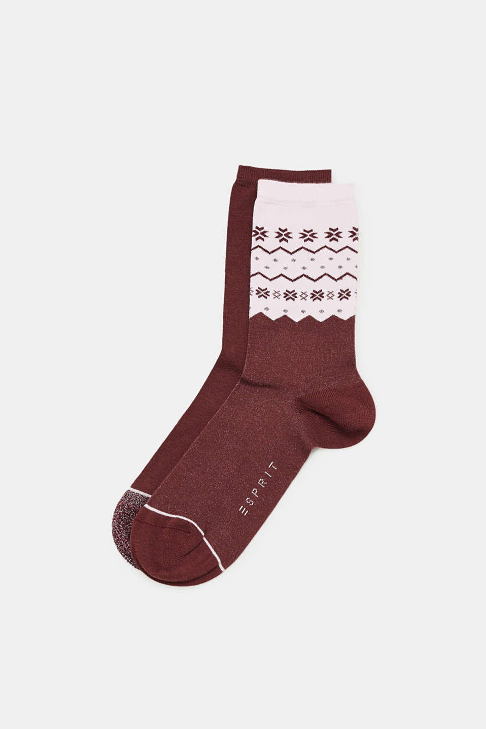 Esprit - Double pack of socks with glitter and a pattern