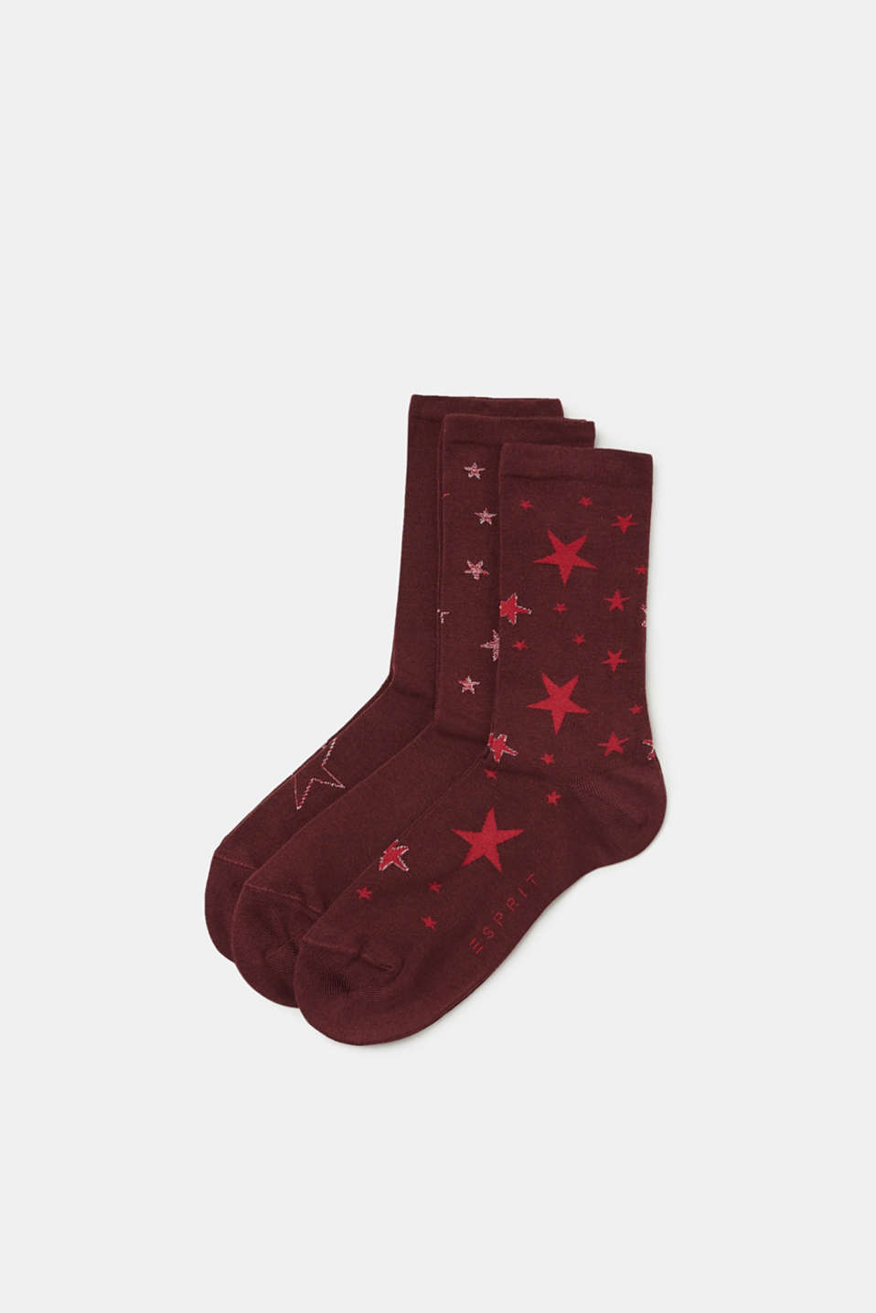 Esprit - Three pack of socks with star intarsia