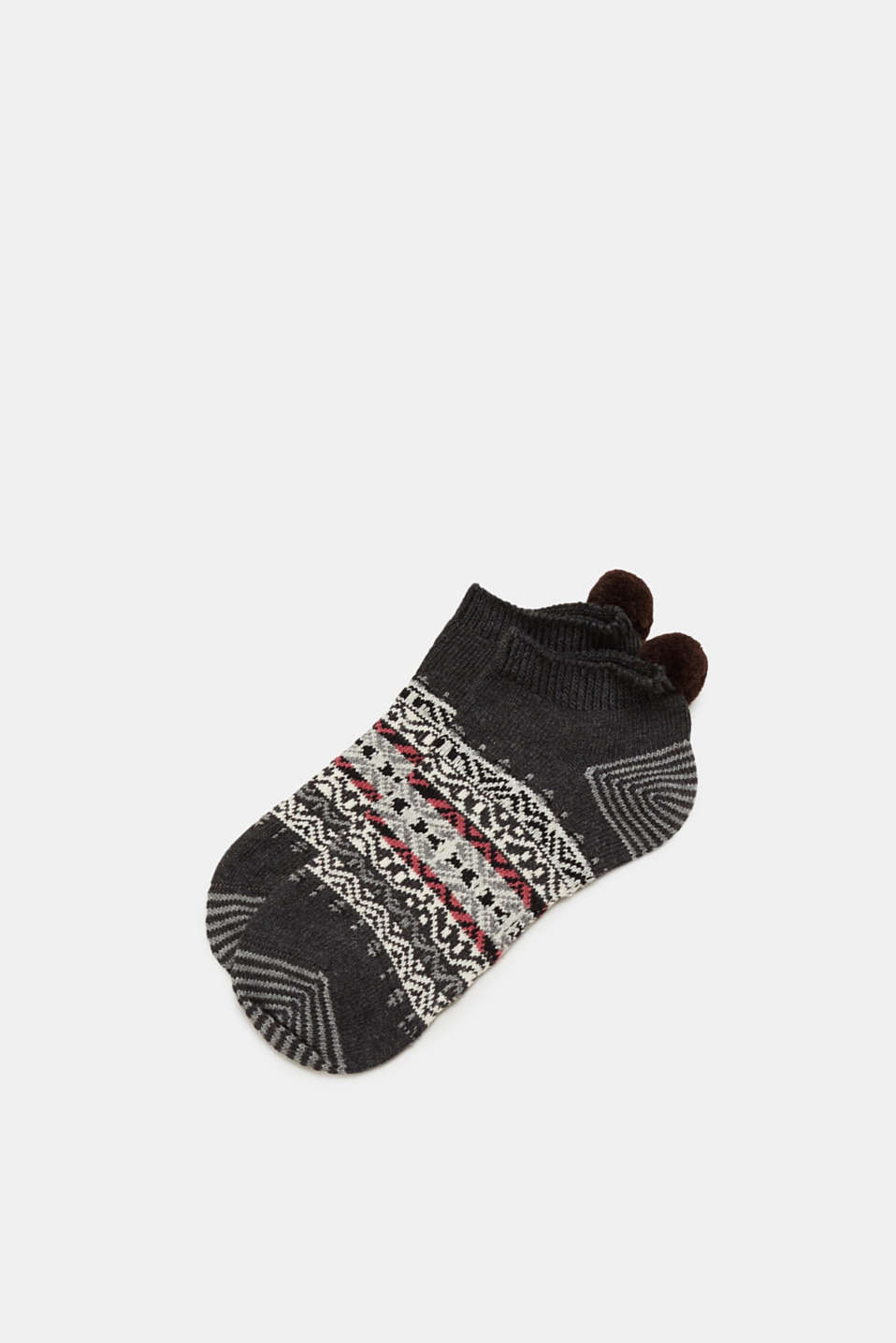 Esprit - Sneaker socks with a Norwegian pattern and a pompom