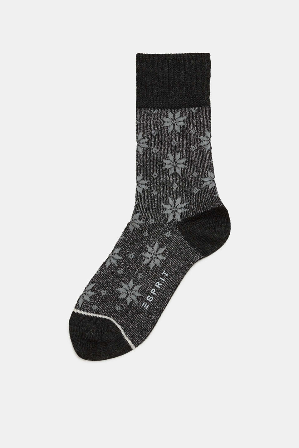 Esprit - With wool: socks with a sparkly Norwegian pattern