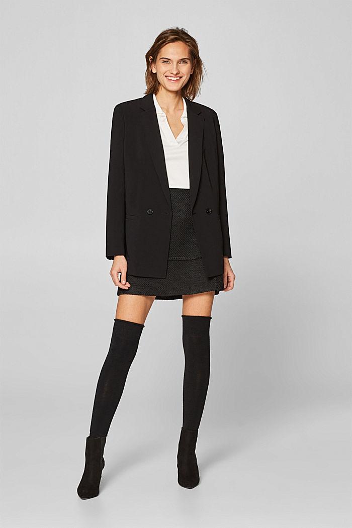 Mit Wolle: Overknees mit Stretchkomfort, BLACK, detail image number 0