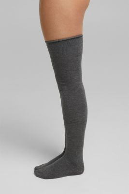With wool: over-the-knee with stretch for comfort, DARK GREY, detail