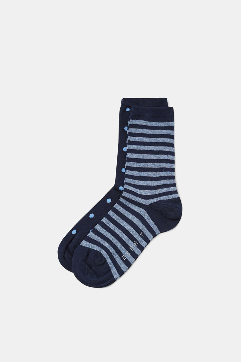 Esprit - Double pack of socks with dots and stripes