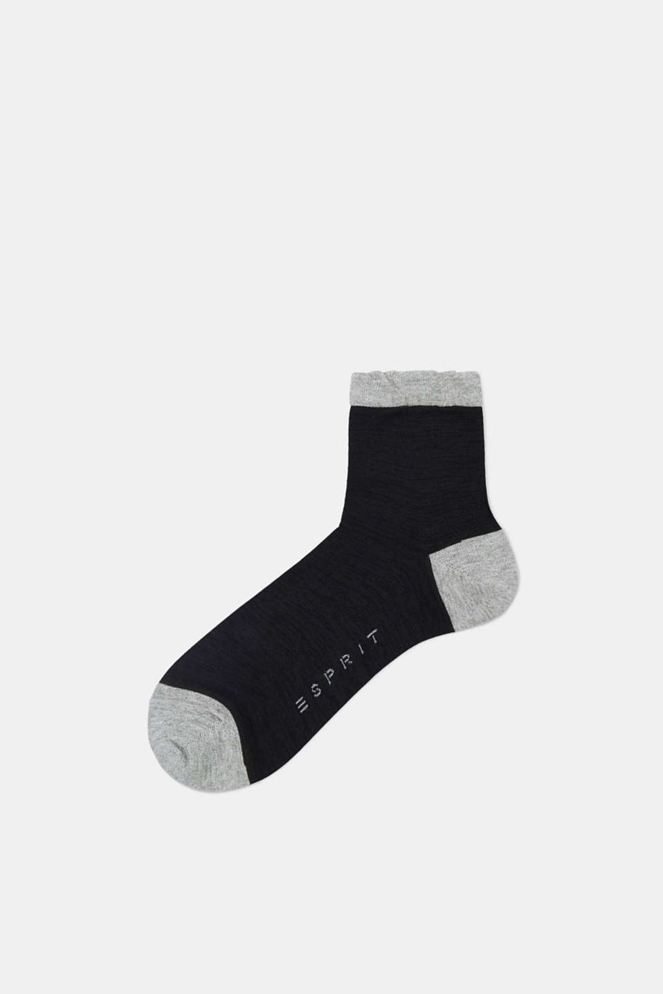 Esprit - Semi-sheer socks with frilled hems