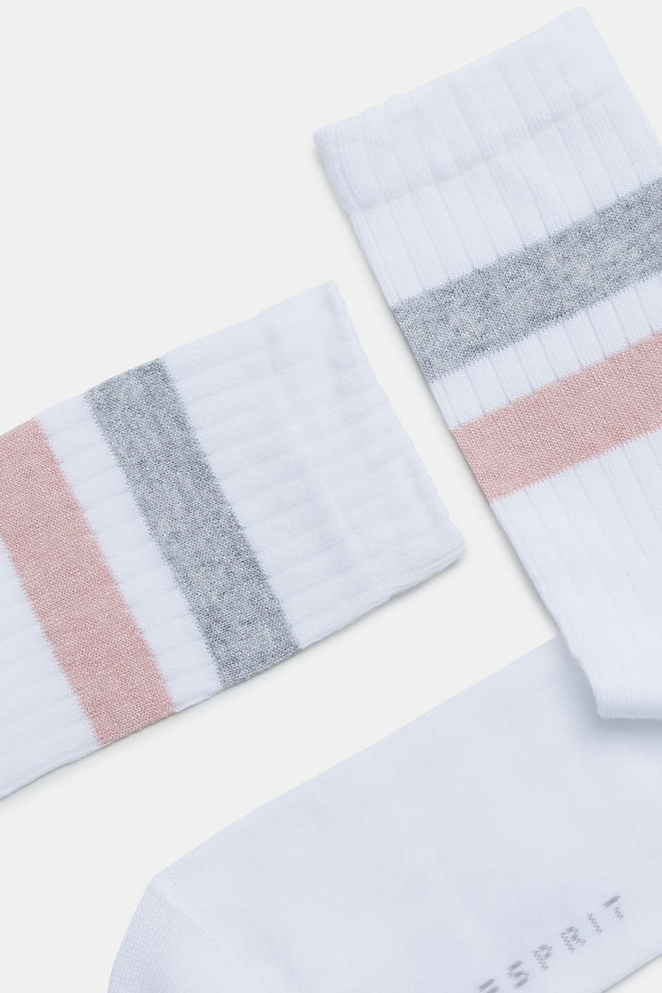 Socks with glittery stripes, WHITE, detail image number 1