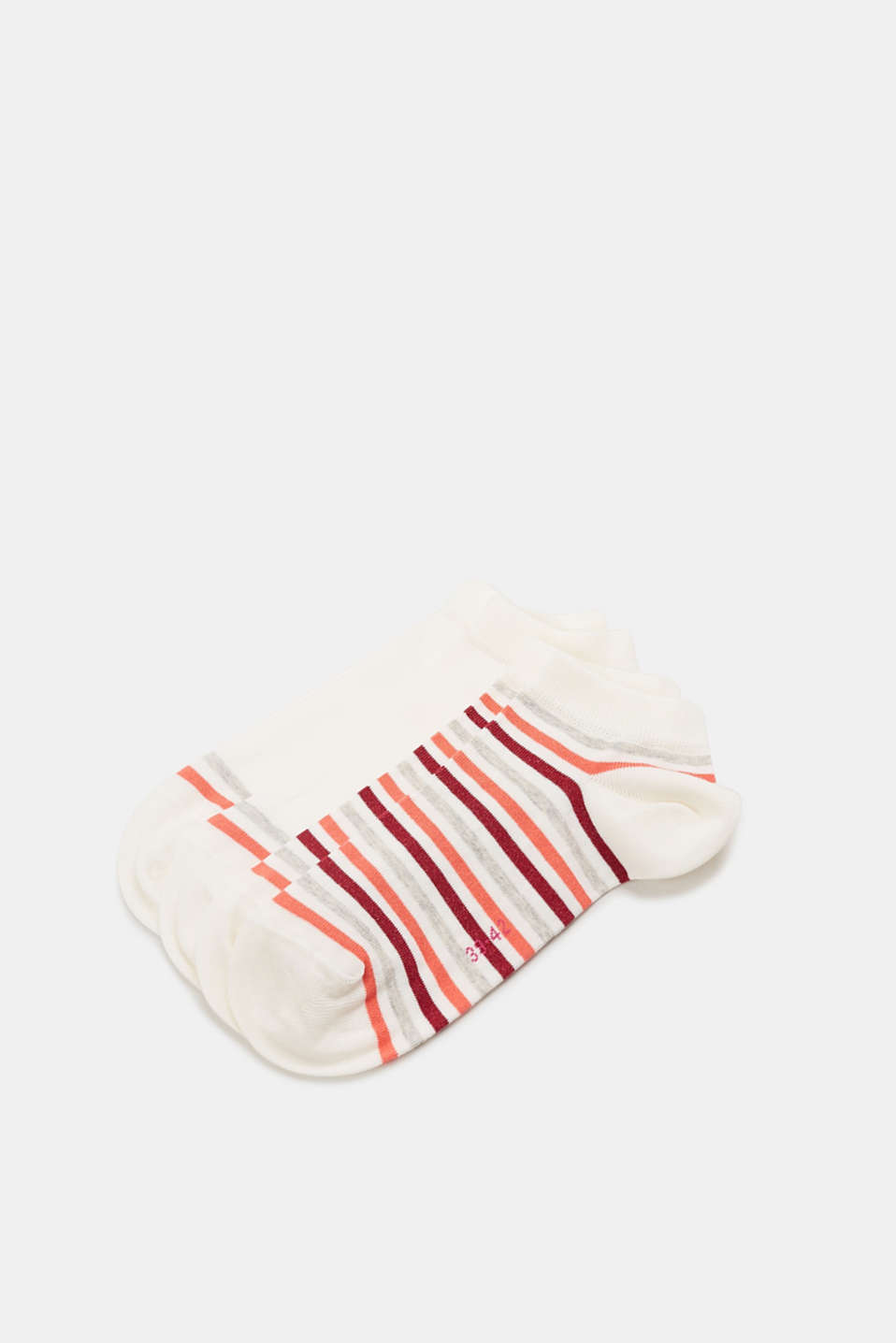 Esprit - Double pack of striped trainer socks