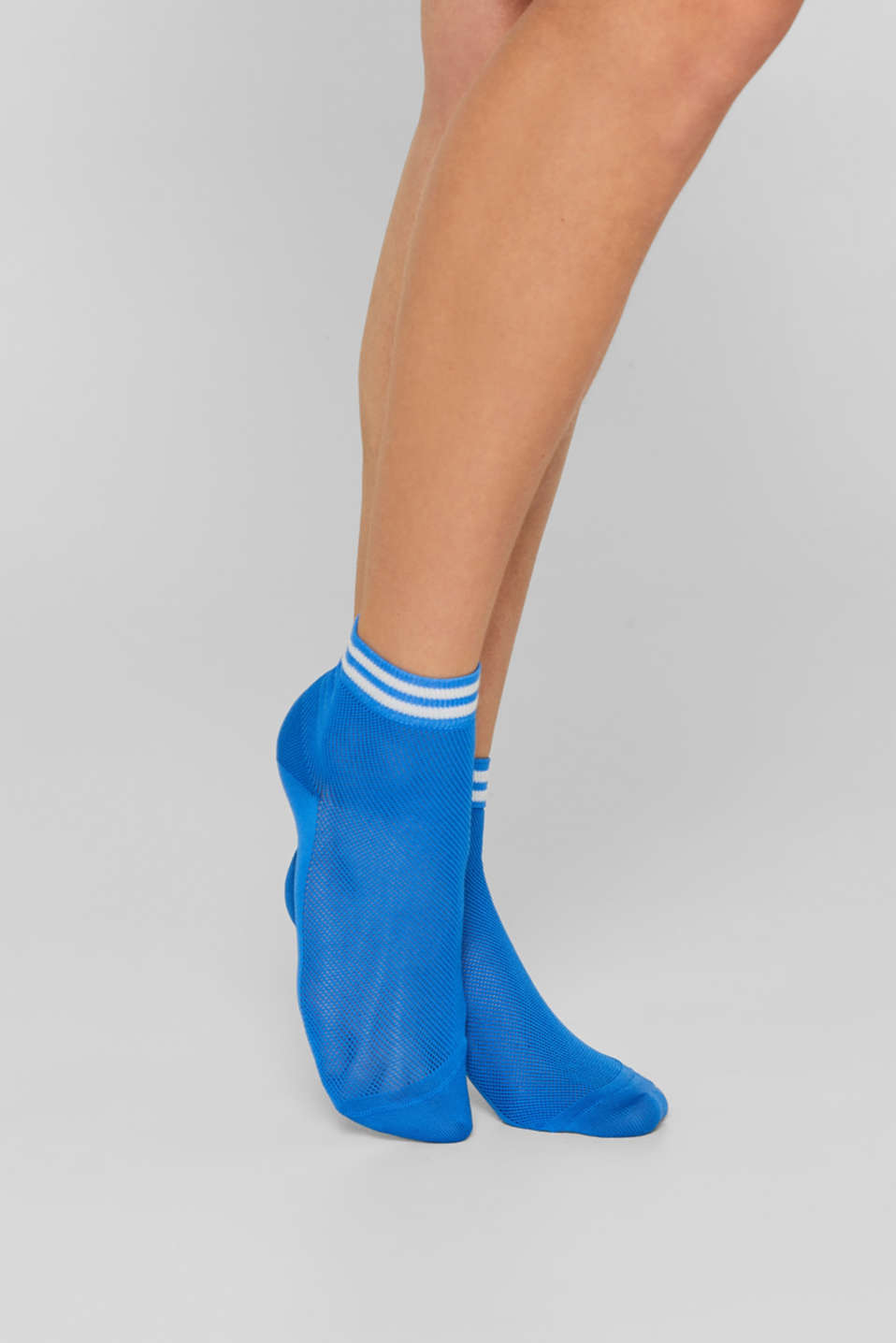 Mesh socks with glittery stripes, SEA BLUE, detail image number 2