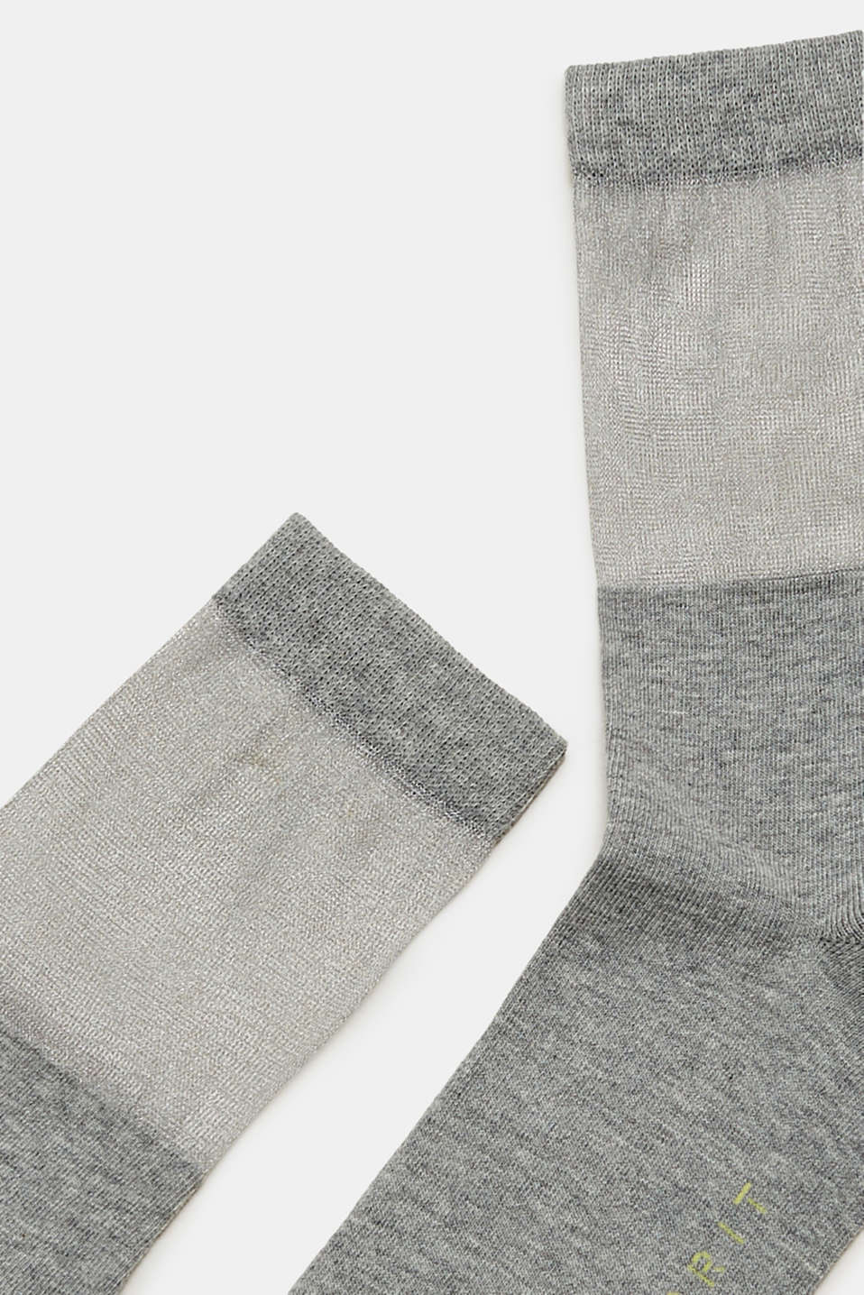 Socks with a semi-sheer shaft, LIGHT GREY, detail image number 1