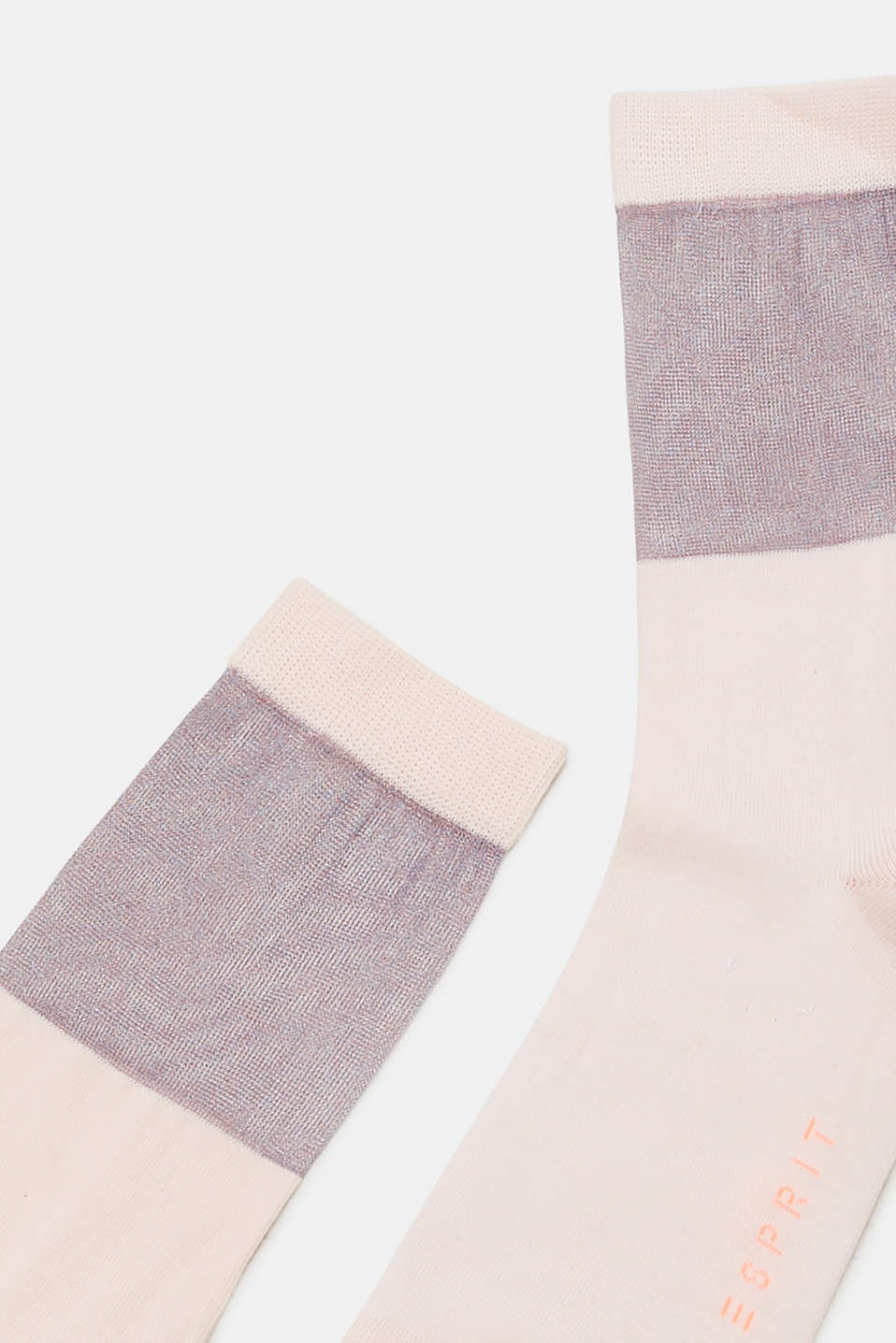 Socks with a semi-sheer shaft, ORCHID, detail image number 1