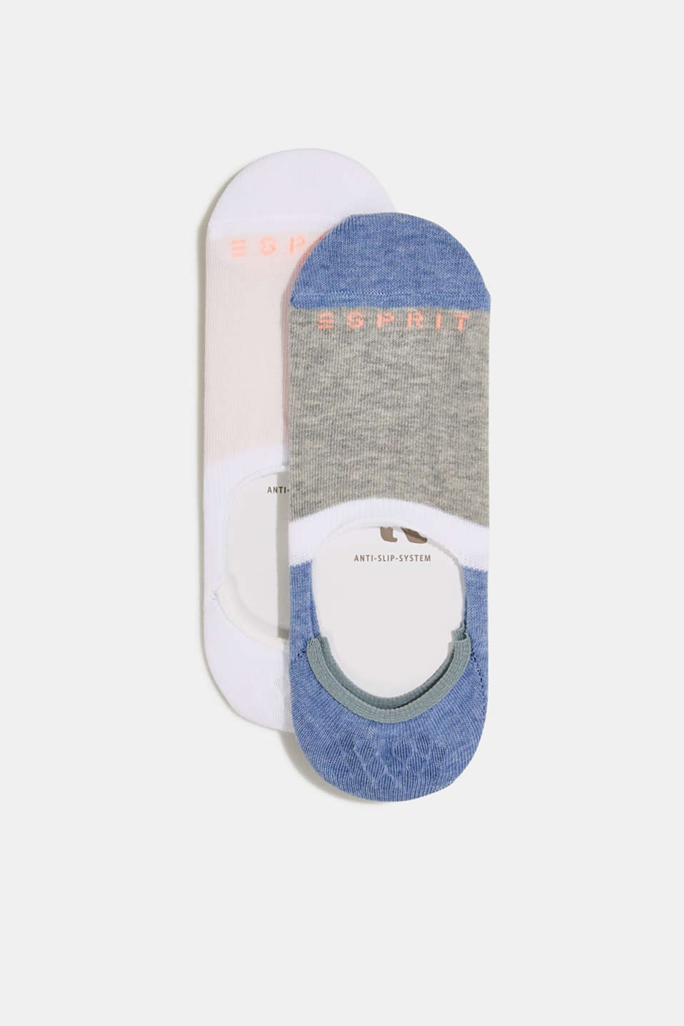 Double pack of blended cotton trainer socks, SORTIMENT, detail image number 0