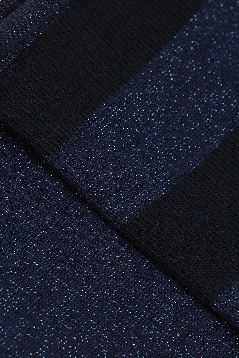 Double pack of socks with glitter and rolled edges, MARINE, detail image number 2