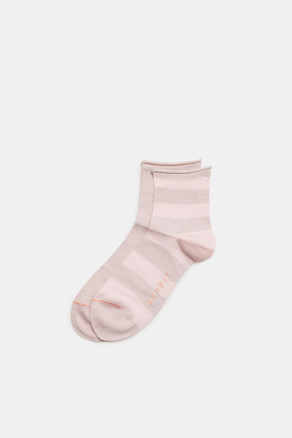 Esprit - Double pack of socks with glitter and rolled edges