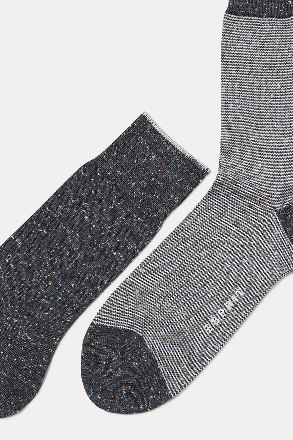 Double pack of socks with silk