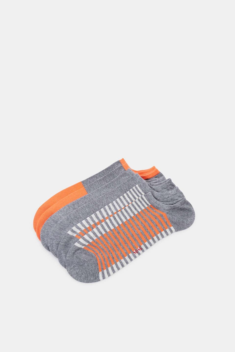 Three pack of trainer socks, LIGHT GREY MELANGE, detail image number 0
