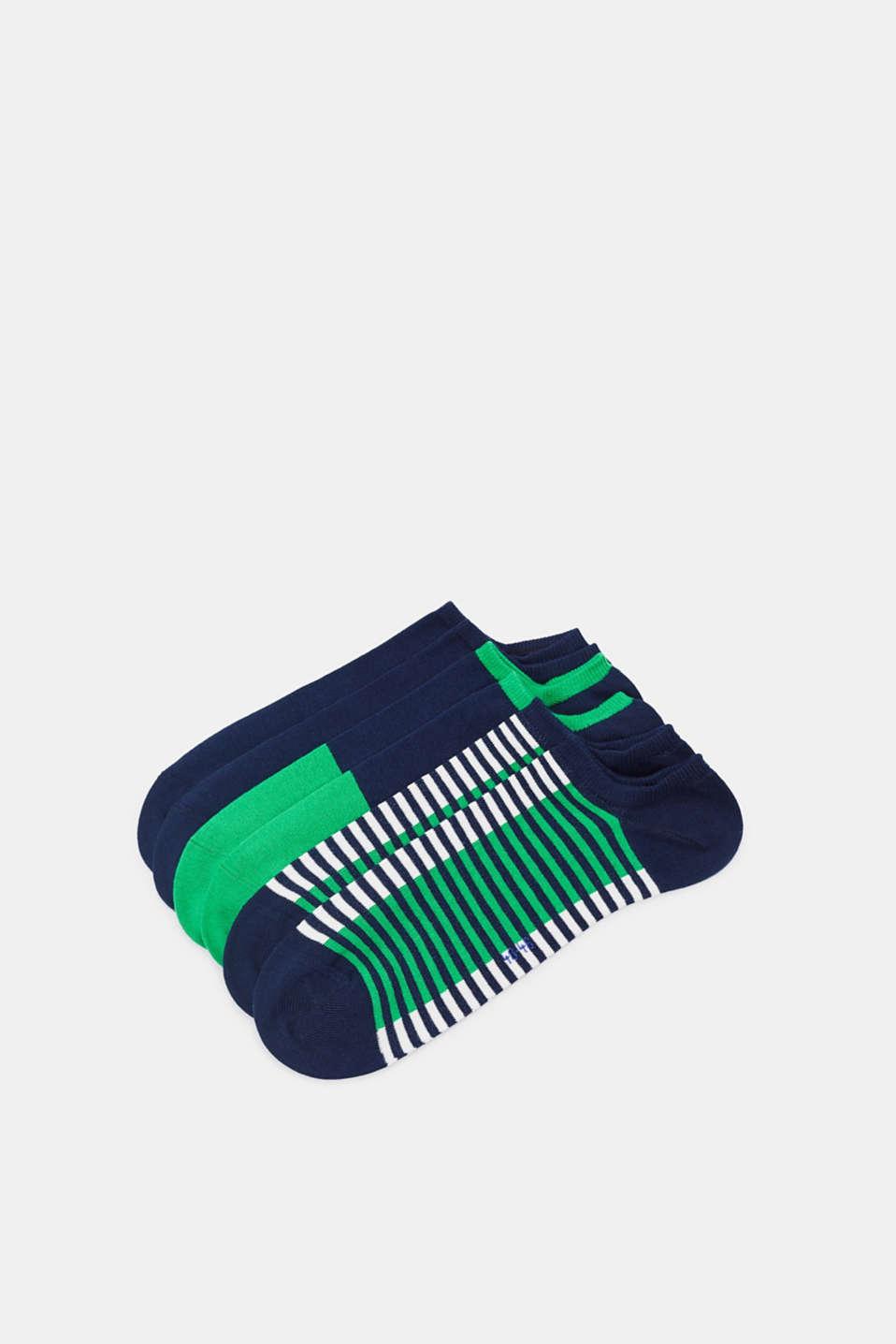 Three pack of trainer socks, MARINE, detail image number 0