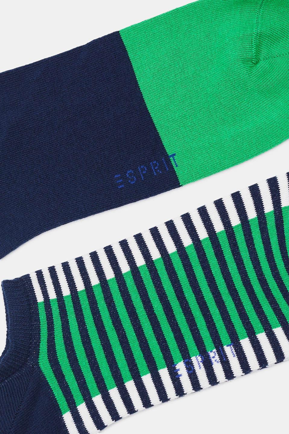 Three pack of trainer socks, MARINE, detail image number 1