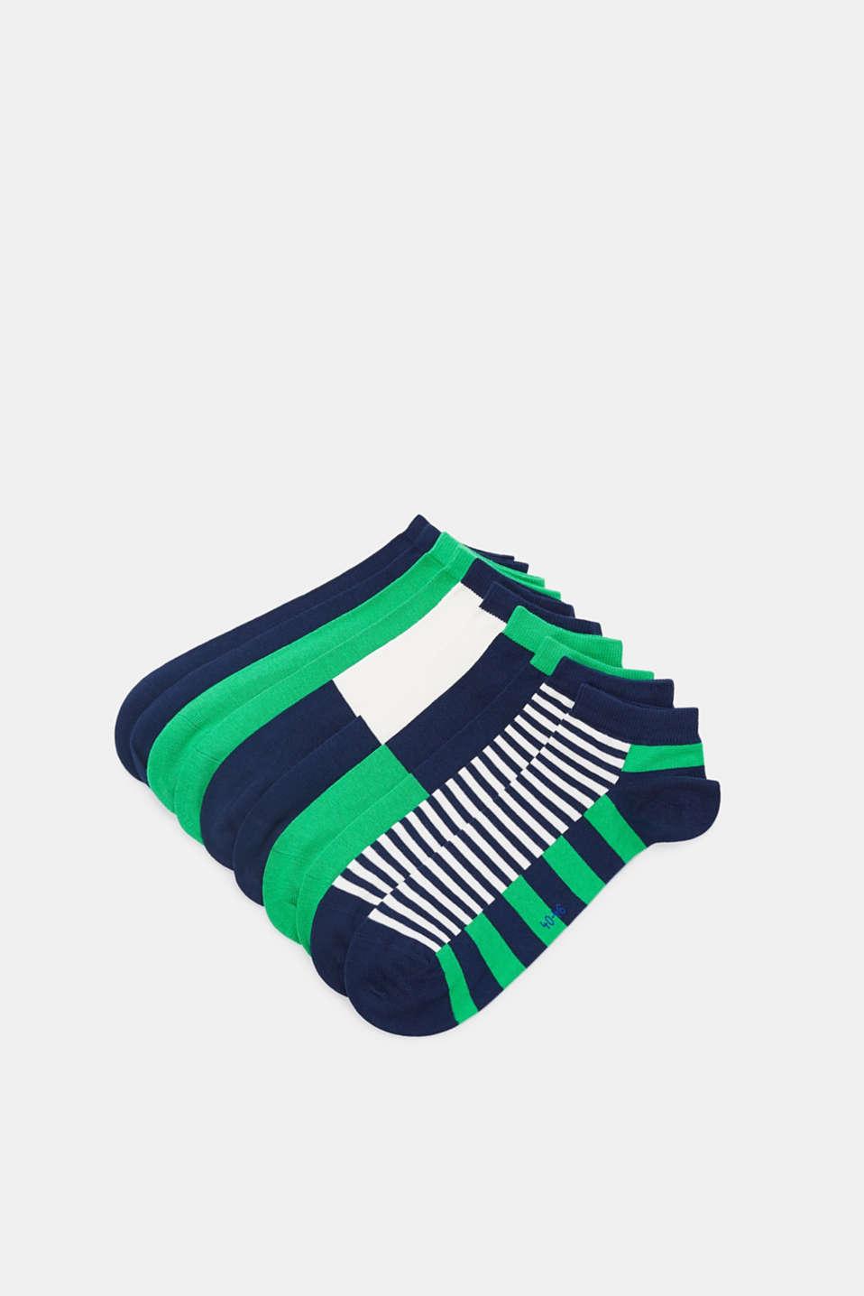 Five pack of trainer socks, MARINE, detail image number 0