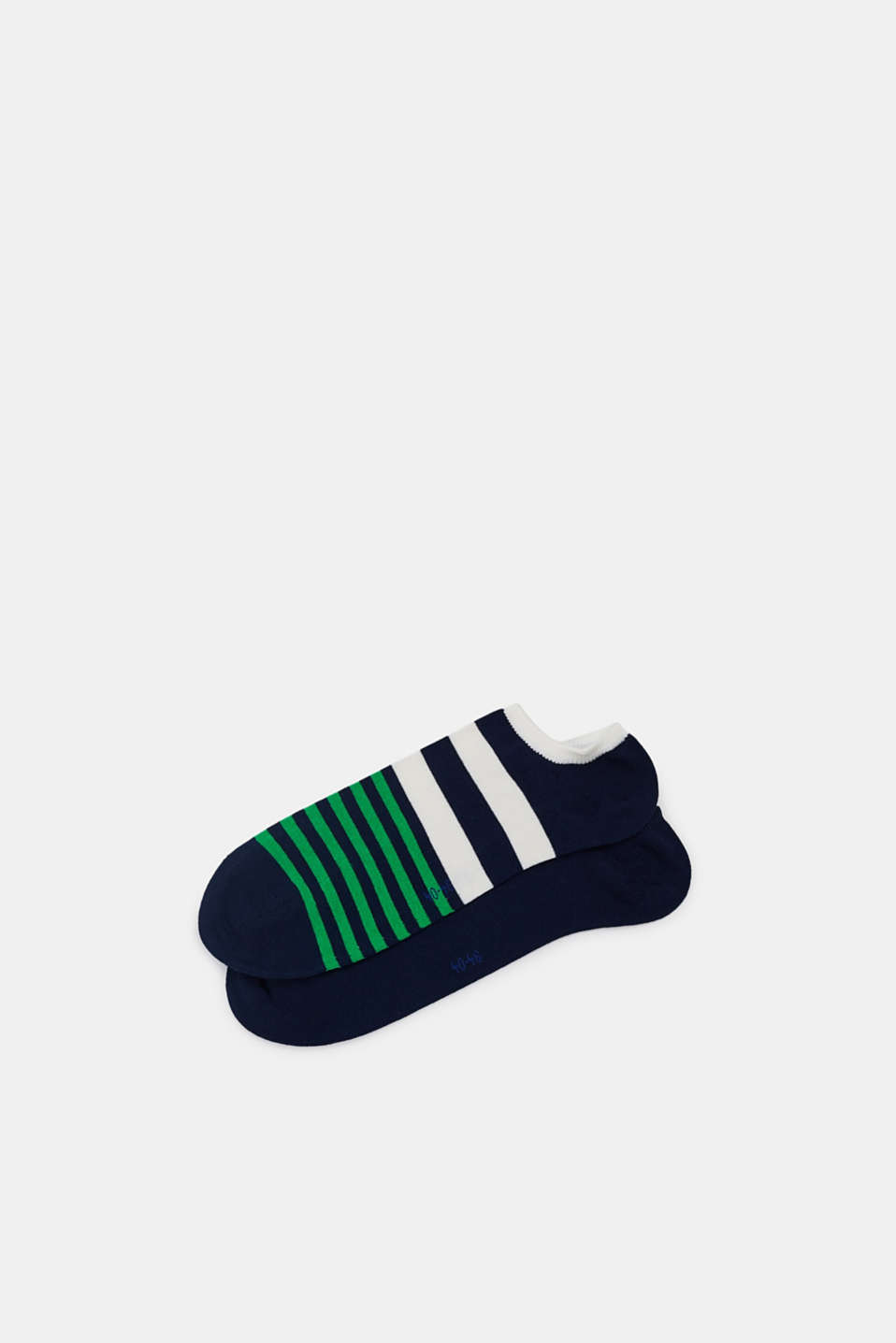 Double pack of blended cotton trainer socks, MARINE, detail image number 0