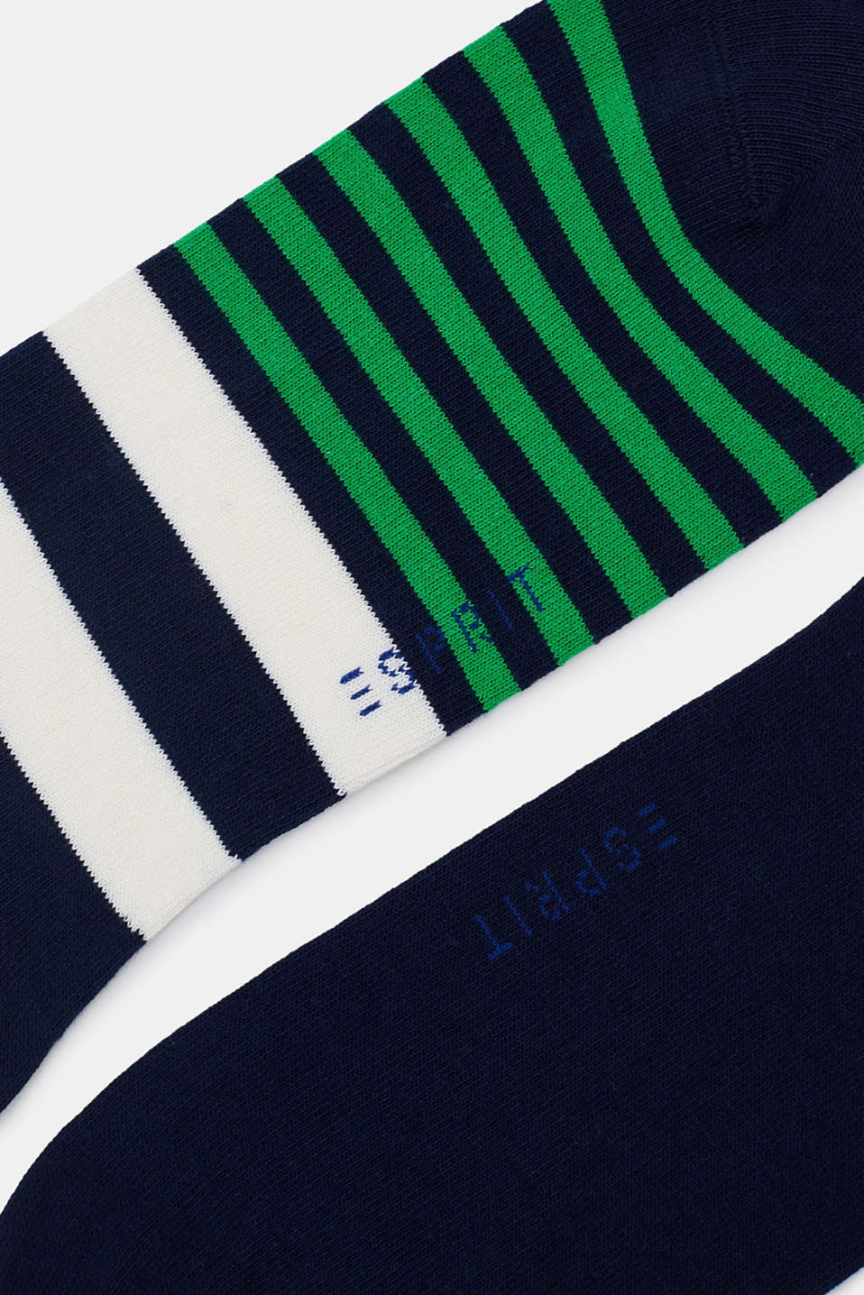 Double pack of blended cotton trainer socks, MARINE, detail image number 1
