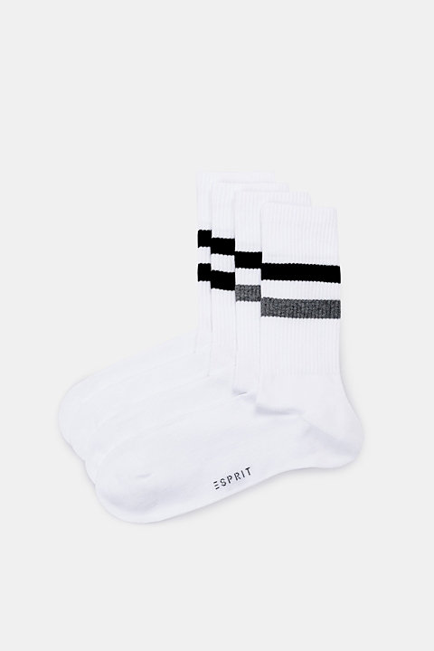 Double pack of striped socks, made of blended cotton