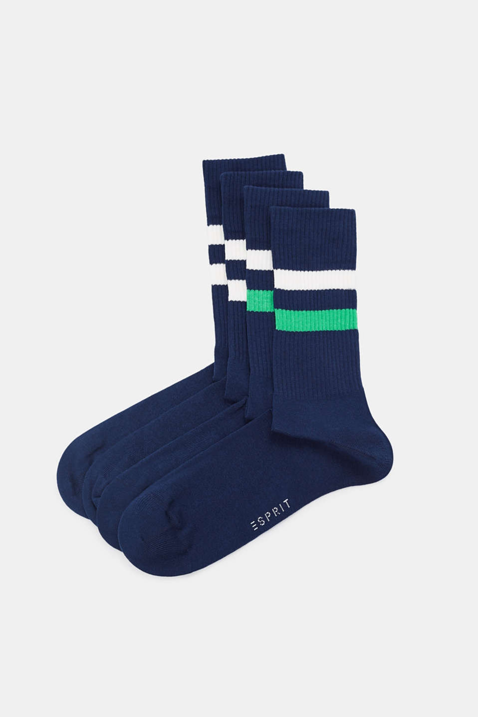 Esprit - Double pack of striped socks, made of blended cotton